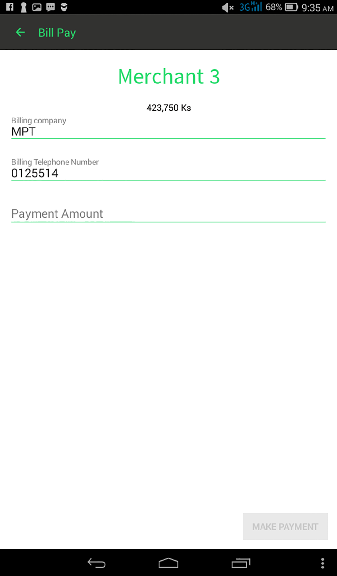 Ongo Bill Payment